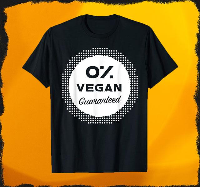 Null Prozent Vegan T-Shirt für Damen und Herren